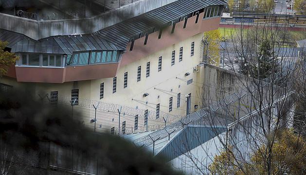 Un dels patis del centre penitenciari.