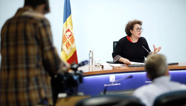La ministra d'Afers Socials, Joventut i Igualtat, Judith Pallarés.