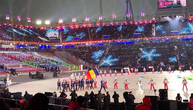 La delegació andorrana a Pyeongchang 2018.