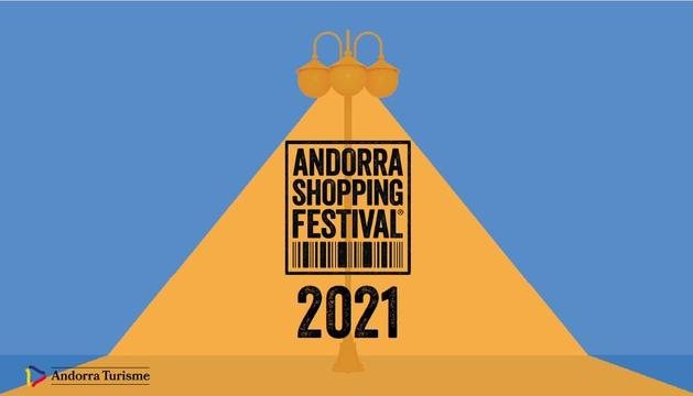 Cartell de l'edició d'enguany de l'Andorra Shopping Festival