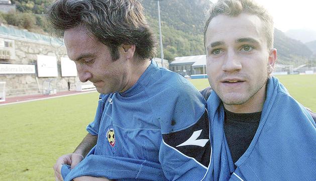 MarcPujol, amb Justo Ruiz, al primer triomf oficial d'Andorra.