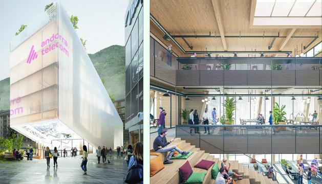 El projecte de la nova seu d'Andorra Telecom.