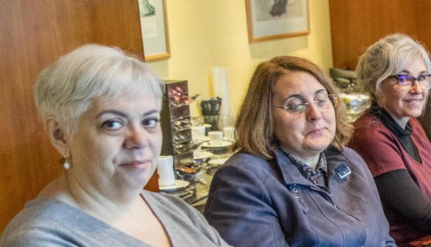 Susagna Arasanz en una reunió del consell d'administració de la CASS de l'any passat