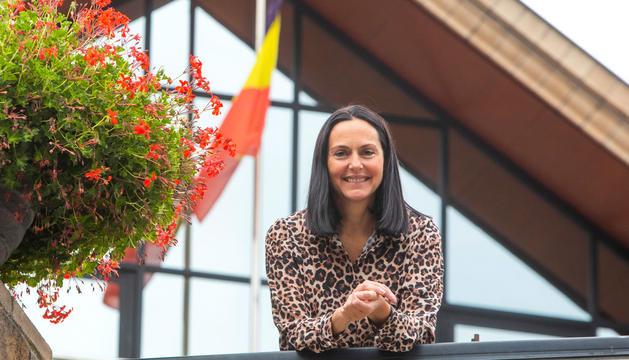 La cònsol major de la Massana, Olga Molné, al seu despatx a casa comuna.