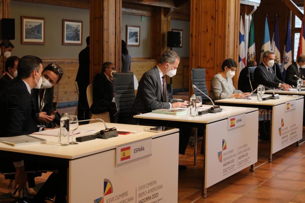 La delegació espanyola abans de l'inici de la reunió